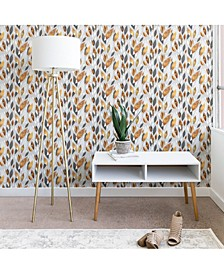 Elisabeth Fredriksson Falling Gold Leaves 2'x4' Wallpaper