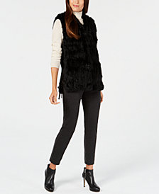 Marcus Adler Lace-Up Fur Vest