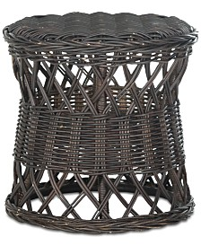 Desta Wicker Round Accent Table, Quick Ship