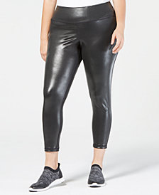 Ideology Plus Size Shiny Leggings, Created for Macy's