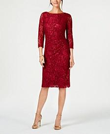 Petite Lace Sheath Dress