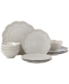 Lenox Chelse Muse Floral 12-Pc. Dinnerware Set, Service for 4