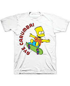 Bart Simpson Aye Carumba! Men's Graphic T-Shirt