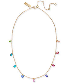 "I.N.C. Gold-Tone Stone Dangle Collar Necklace, 16"" + 3"" extender, Created for Macy's"
