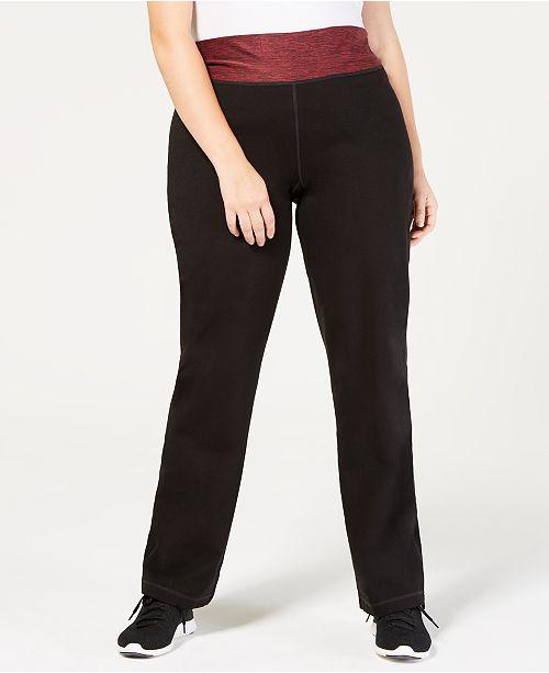 e25564d3b41 Ideology Plus Size Rapidry Open Leg Yoga Pants Created For Macy S