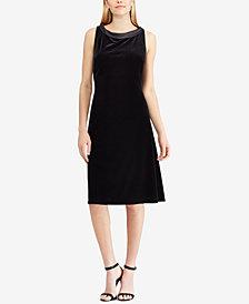American Living Satin-Tie Velvet Dress