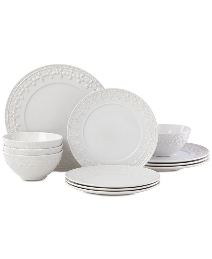Lenox - Chelse Muse Fleur 12-Pc. Dinnerware Set, Service for 4