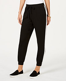 Style & Co Petite Side-Stripe Jogger Pants, Created for Macy's