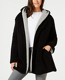 Style & Co Reversible Faux-Sherpa Jacket, Created for Macy's