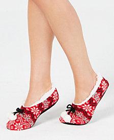 Charter Club Women's Fair Isle Slipper Socks, Created for Macy's