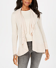 Style & Co Petite Draped Open-Front Cardigan, Created for Macy's