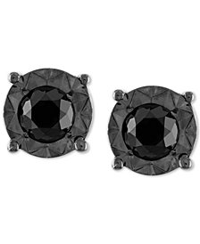 Black Diamond (1/2 ct. t.w.) Stud Earrings in Sterling Silver