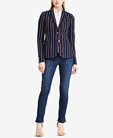 Ralph Lauren Petite Striped Jacquard Jacket