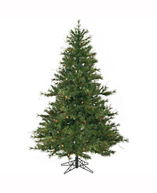 6.5' Mixed Country Pine Slim Artificial Christmas Tree Unlit