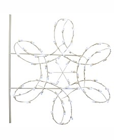 Vickerman 4 ½' Double Spiral Snowflake Commercial Pole Decoration With 66 LED Lights.