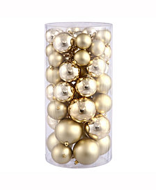 "Vickerman 1.5""-2"" Gold Shiny/Matte Finish Ball Christmas Ornament, 50 per Box"