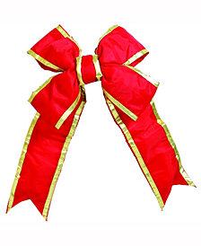 "Vickerman 48"" Red-Gold Nylon Outdoor Christmas Bow"
