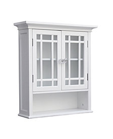 Neal Wall Cabinet with 2 Doors and 1 Shelf