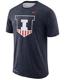 750a12e228f Nike Men s Illinois Fighting Illini Dri-Fit Cotton Slub T-Shirt