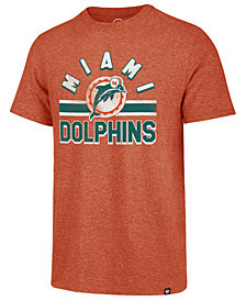 '47 Brand Men's Miami Dolphins Team Stripe Match Tri-Blend T-Shirt