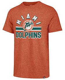 '47 Brand Men's Miami Dolphins Team Stripe Match Tri-Blend T-Shirt
