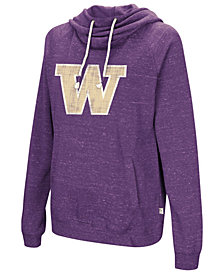 Colosseum Women's Washington Huskies Speckled Fleece Hooded Sweatshirt