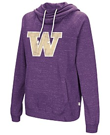 Colosseum Women's Washington Huskies Speckled Fleece Hooded Sweatshirt