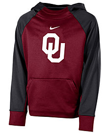 Nike Oklahoma Sooners Therma Color Block Hoodie, Big Boys (8-20)