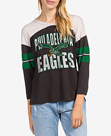 Junk Food Women's Philadelphia Eagles Liberty Throwback Raglan T-Shirt