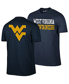 Retro Brand Men's West Virginia Mountaineers Team Stacked Dual Blend T-Shirt