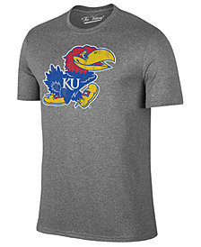 Retro Brand Men's Kansas Jayhawks Alt Logo Dual Blend T-Shirt