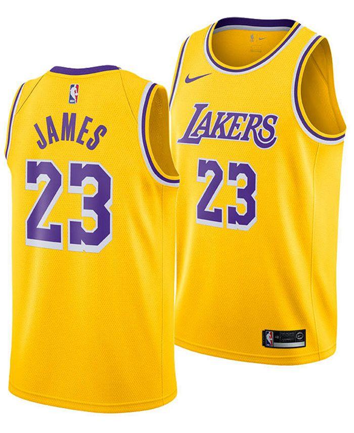 Men's LeBron James Los Angeles Lakers Icon Swingman Jersey