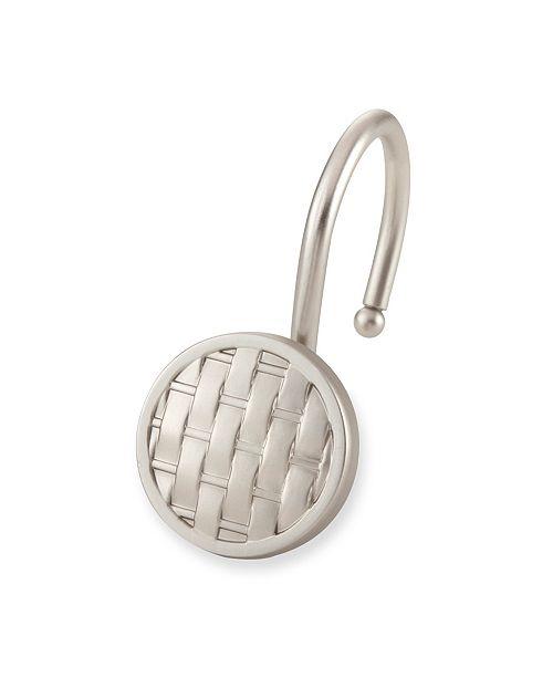 Elegant Home Fashions Shower Hooks - Woven - Brush Nickel