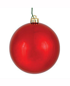 "6"" Red Shiny Ball Christmas Ornament, 4 per Box"