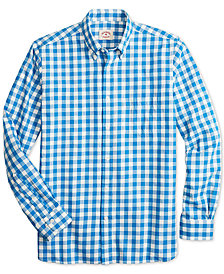 Brooks Brothers Men's Slim-Fit Flannel Gingham Shirt