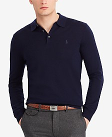 Polo Ralph Lauren Men's Hybrid Merino Blend Polo Sweater