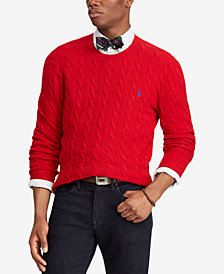 Polo Ralph Lauren Men's Cashmere Wool Blend Cable-Knit Sweater