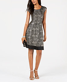 Robbie Bee Petite Metallic Dress