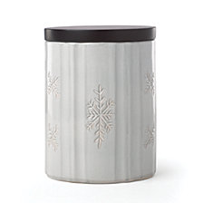 Lenox Alpine Carved Small Canister with Wood Lid