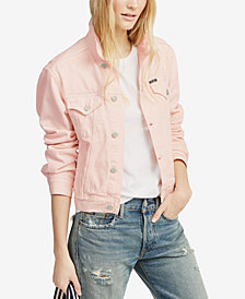 Polo Ralph Lauren Pink Pony Denim Cotton Trucker Jacket
