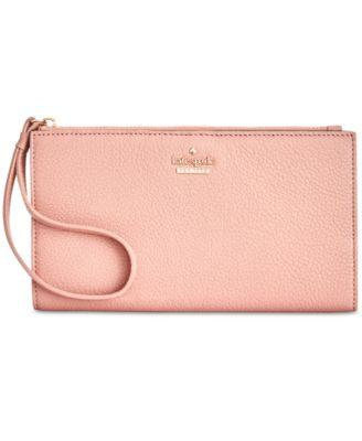 kate spade new york blake street dot eliza pebble leather wallet rh macys com