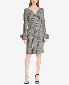 Lauren Ralph Lauren Plaid Ruched Dress, Created for Macy's