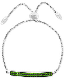 EFFY® Tsavorite Cluster Bolo Bracelet (1-1/2 ct. t.w.) in Sterling Silver