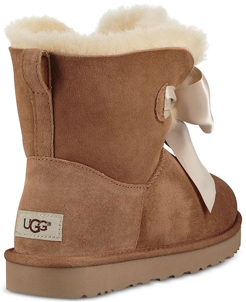 bc10117109 Ugg Women S Gita Bow Mini Booties Boots Shoes Y