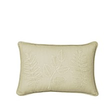 Laurel Embroidered Decorative Pillow