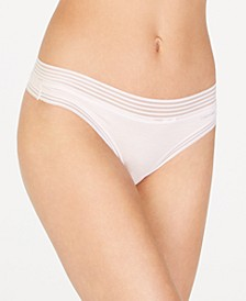 Striped-Waist Thong Underwear QD3670