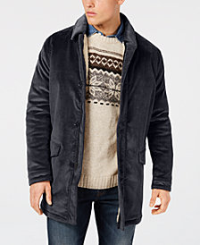 Bar III Men's Classic/Regular Fit Corduroy Overcoat, Created for Macy's