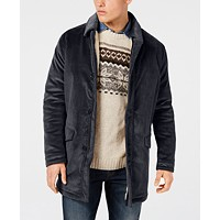 Deals on Bar III Men's Classic/Regular Fit Corduroy Overcoat