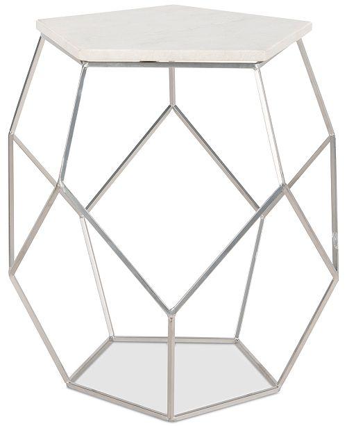 Safavieh Modern Pentagon Marble Top Side Table
