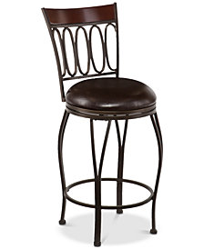 Brookshore Swivel Counter Stool, Quick Ship
